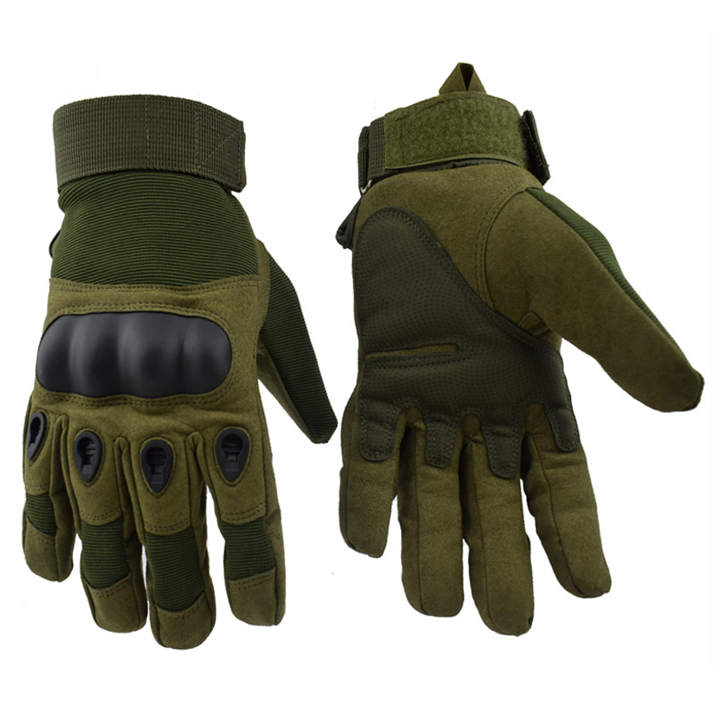 Outdoor Sports Army Tactical Gloves Climbing Cycling Men's Full Finger Gloves Military Paintball Hunting Armor Protection Gloves