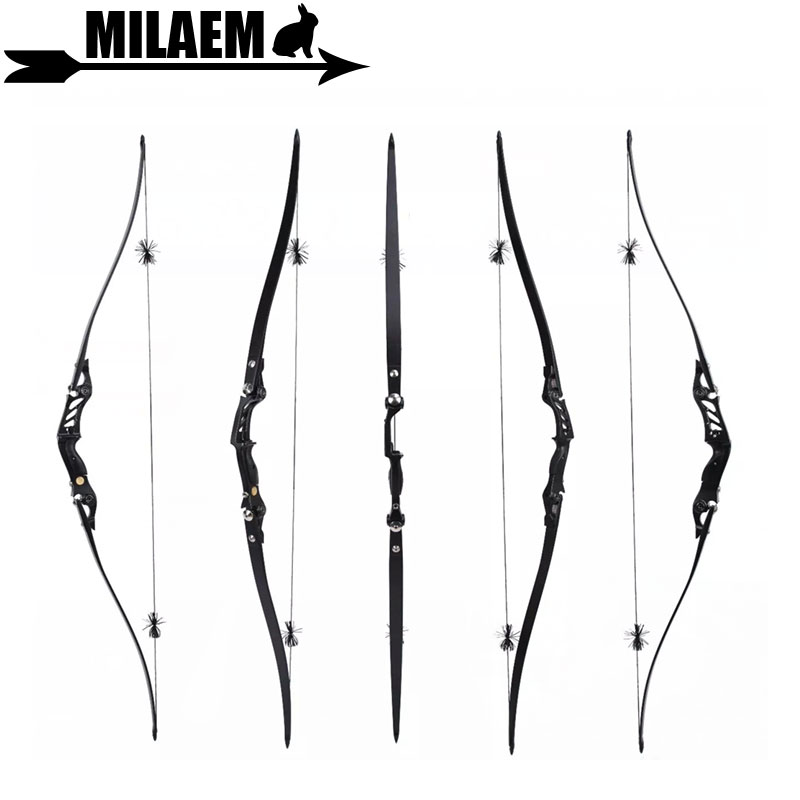 1Set 60inch Archery BOSEN HORN Recurve Bow 20 55lbs ILF American Hunting Bow Foam Core Limbs