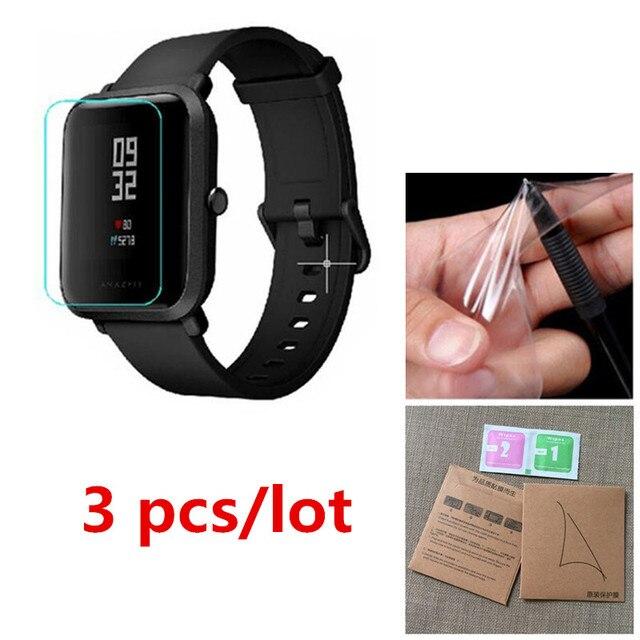3 piezas de TPU suave HD claro Protector de pantalla para Xiaomi Huami Amazfit Bip poco Lite reloj inteligente película protectora la cubierta completa