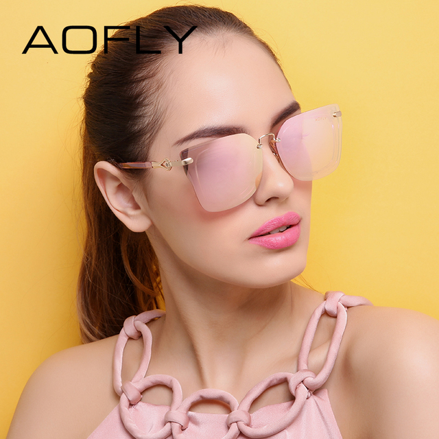 AOFLY Original Brand 2017 Designer Sunglasses Fashion Square Sunglasses Revo Lens Sun glasses for Women Eyewear UV400 AF7928