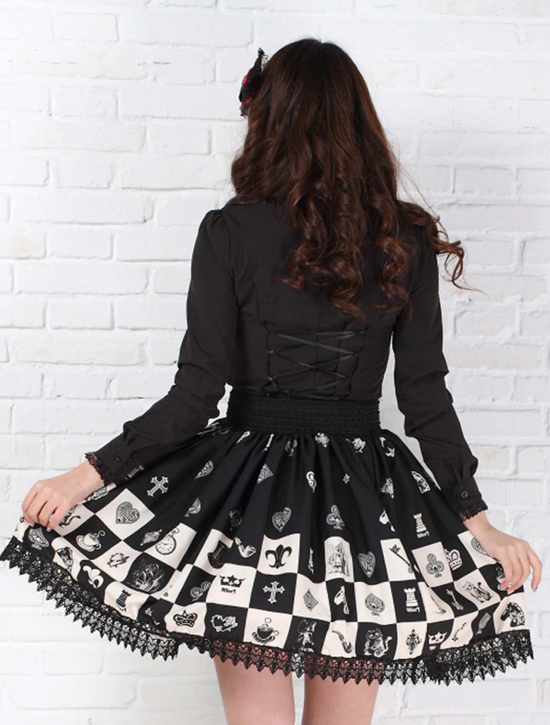 Γοτθική ελαστική φούστα για - Γυναικείος ρουχισμός - Φωτογραφία 3