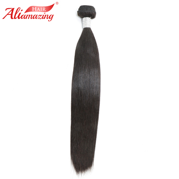 Ali Amazing Hair Peruvian Silky Straight Hair Bundles 1 Piece 100% Remy Human Hair Bundles Extensions Double Weft Free Shipping