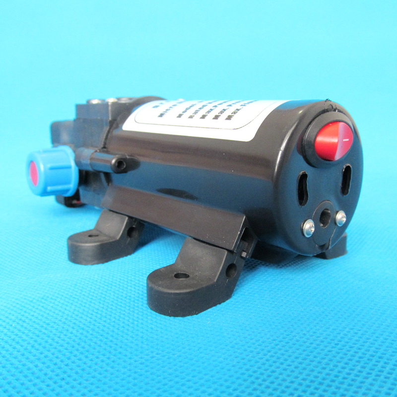 Купить с кэшбэком 130PSI 5.5l/min 80w automatic pressure switch type with on/off button and DC Jack 12v diaphragm pump