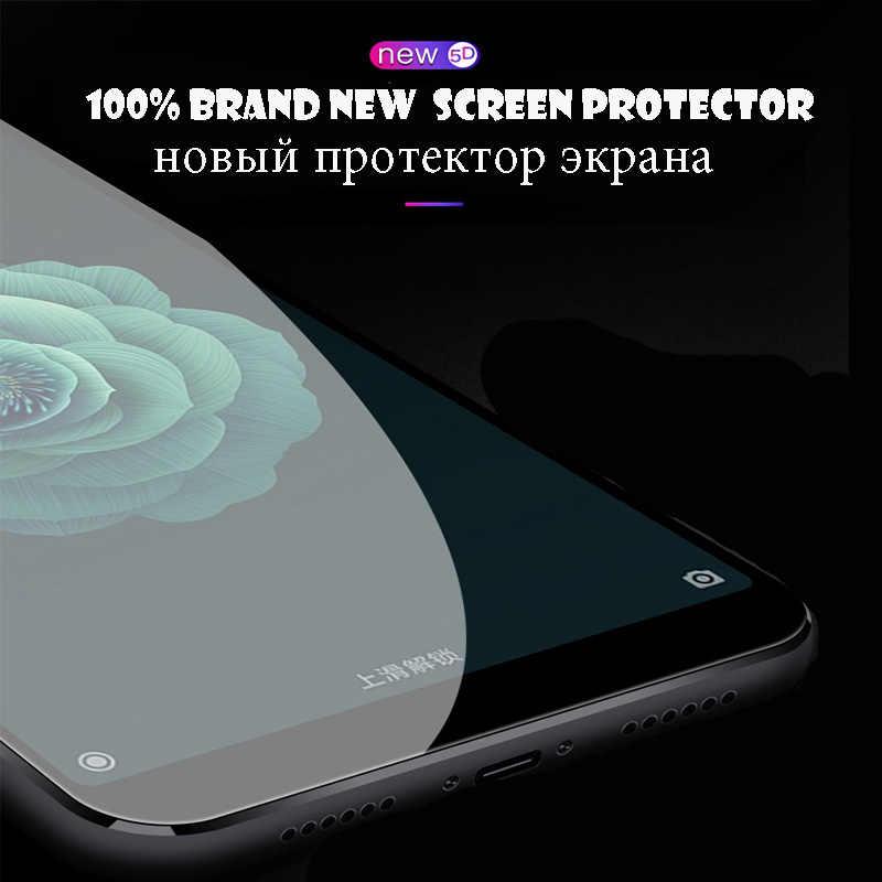 5D Tempered glass cho xiaomi pocophone f1 8 8se redmi note 5 pro 6pro 6A 4x 4a glass bảo vệ màn hình bảo vệ đầy đủ bìa phim
