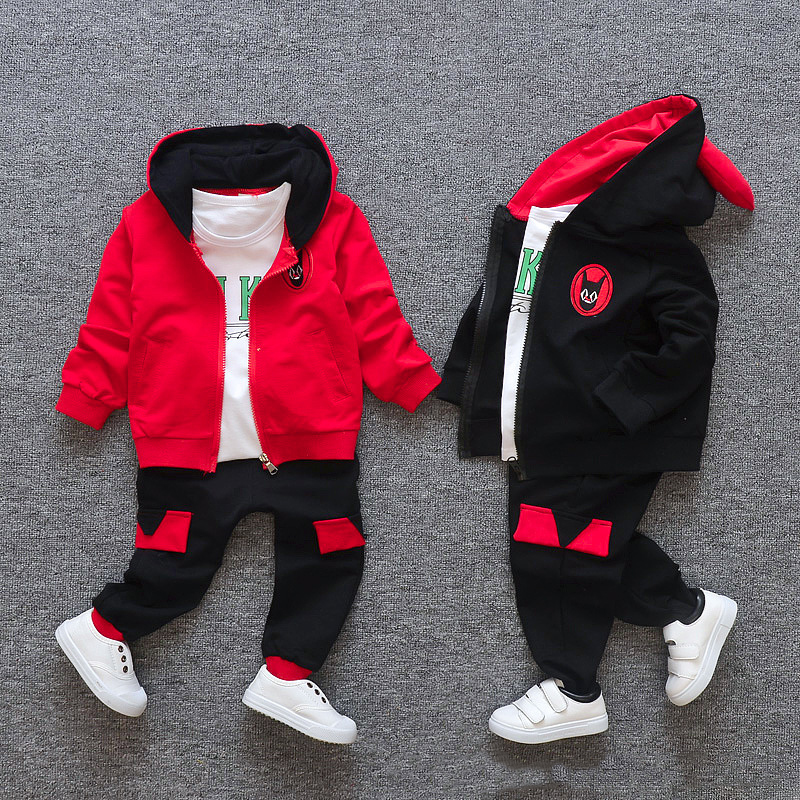 3d2c90cb9 Ropa para niños conjuntos de ropa para niños Otoño Invierno algodón casual  niños chándales de manga larga Camiseta pantalones para 1 2 3 4 años