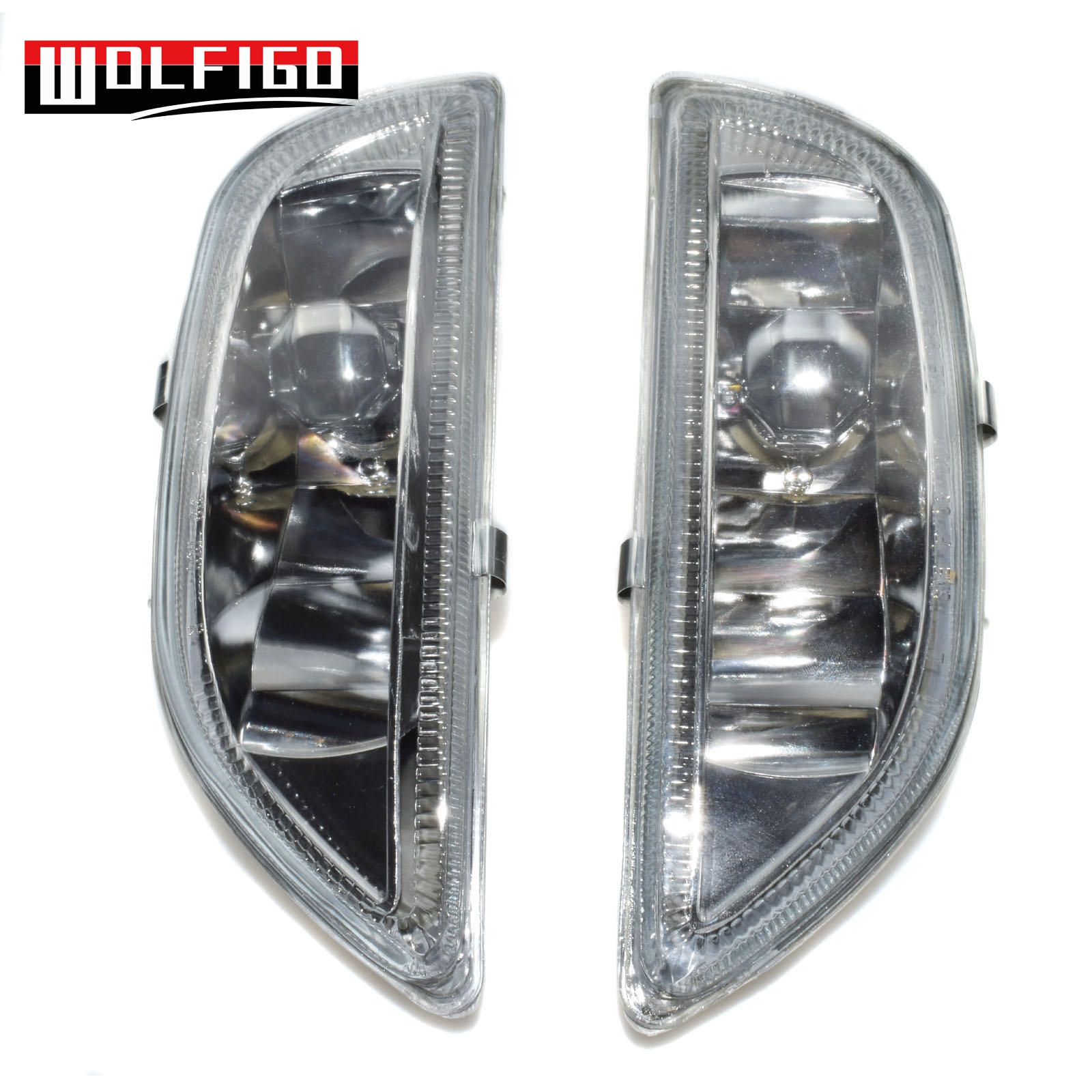 WOLFIGO FOR 2001 2002 Toyota COROLLA CLEAR LENS BUMPER DRIVING FOG BULBS Lights LH RH Left Right Side New