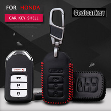 2016 Fashion Car Shell Leather Key Case Cover KeyChain The waist buckle For Honda City Civic Accord CRV Fit  Wallet Coolcarkey