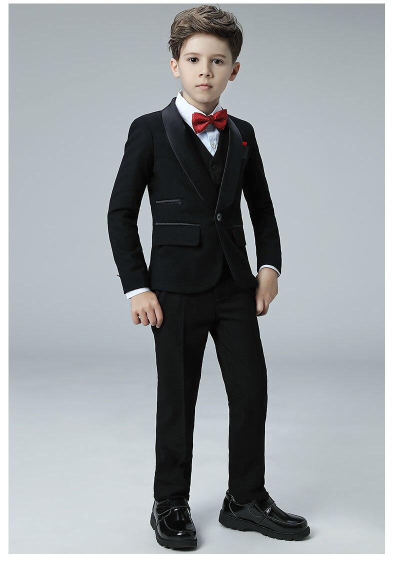 5 Piece 2018 New Boy Flower Girl Wedding Suit Korean Boys Prom Suits ...