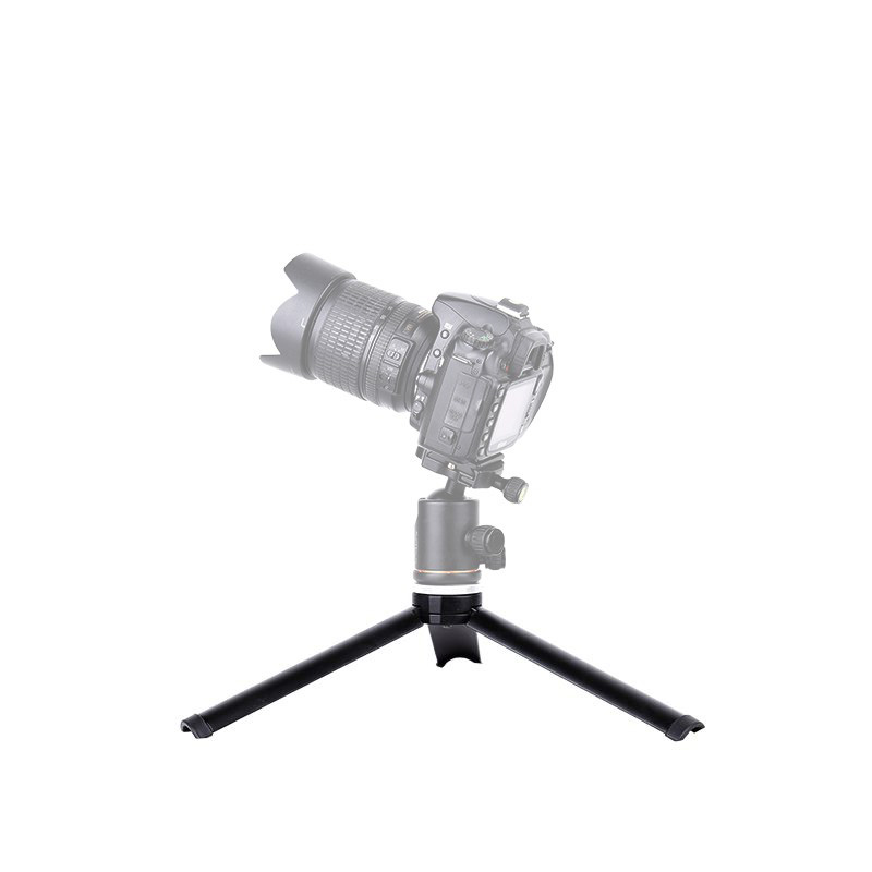 Fusitu Q166B Travel Tabletop Mini Tripod Stand with Selfie Stick for DLSR Smartphone Action Sports Camera Phone