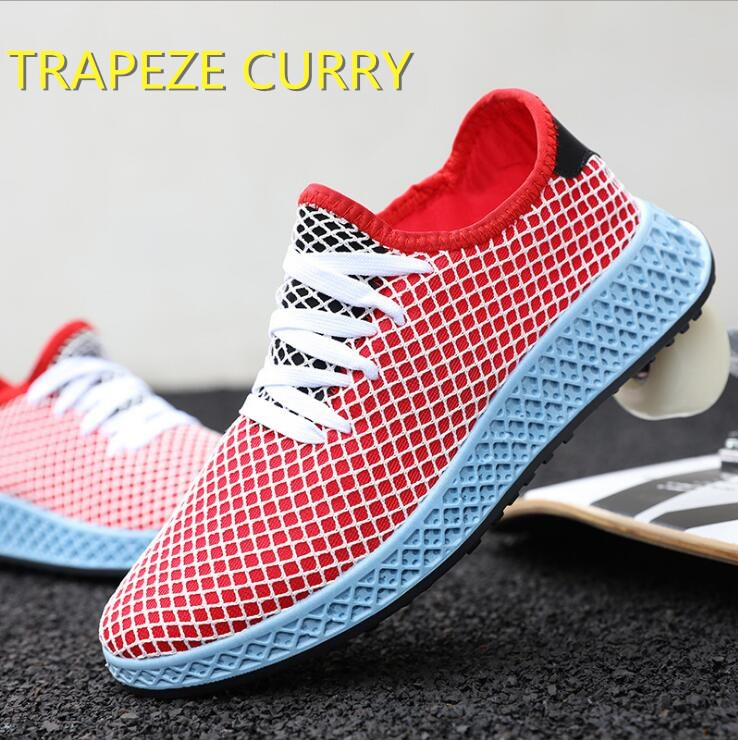New listing hot sale summer fly weave net Breathable men running shoes sports shoes