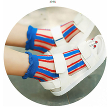 Sokken Hot Sale Rushed Cotton Pug Ankle Socks Womens Fuzzy Rainbow Cute Sheer Ghost Korean Harajuku Streetwear 2019 Women