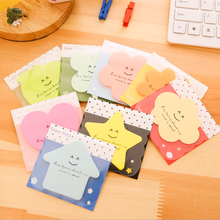 Cute Memo Pad Candy Color Memo Sticker Paper Kawaii Apple Bookmark Memo Pad Sticky Note School Office School Supplies Stationery