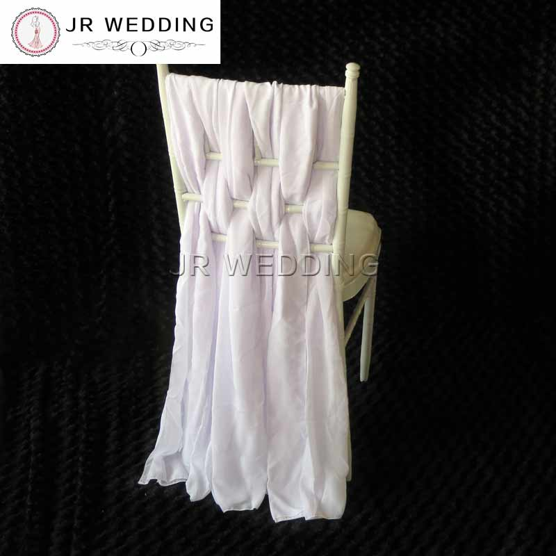 White Chair Sashes Winnie The Pooh High Banner 10pcs For Weddings Lace Chiffon Cover Chiavari Sash Bow Wedding Free Shipping