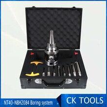 精密 NT40 NBH2084 8 280 ミリメートルボーリングヘッドシステムツールホルダー + 8 個 M6 thread20mm ボーリングバーボーリング鳴った 8 280 ミリメートルボーリング工具セット