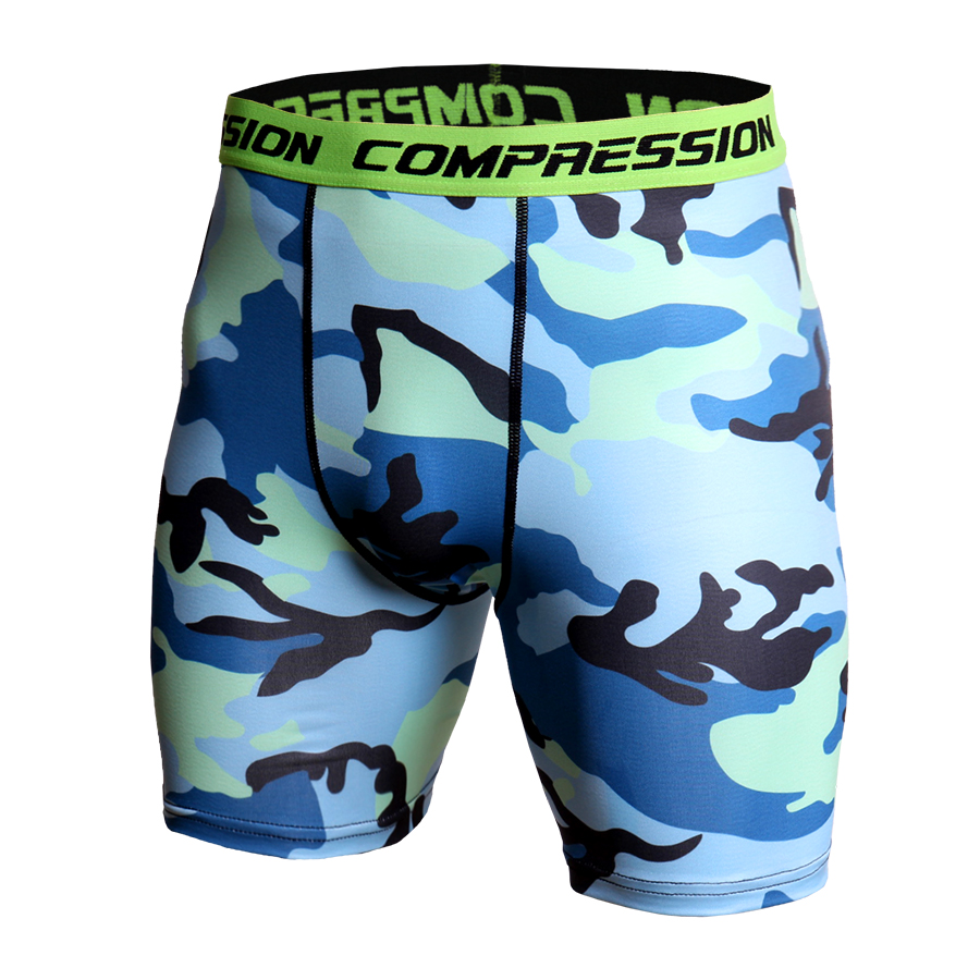 Compression Tights Fitness Plus Size Skinny Shorts Men Casual Fashion Camouflage Printed Compression Elastic Waist Short Homme