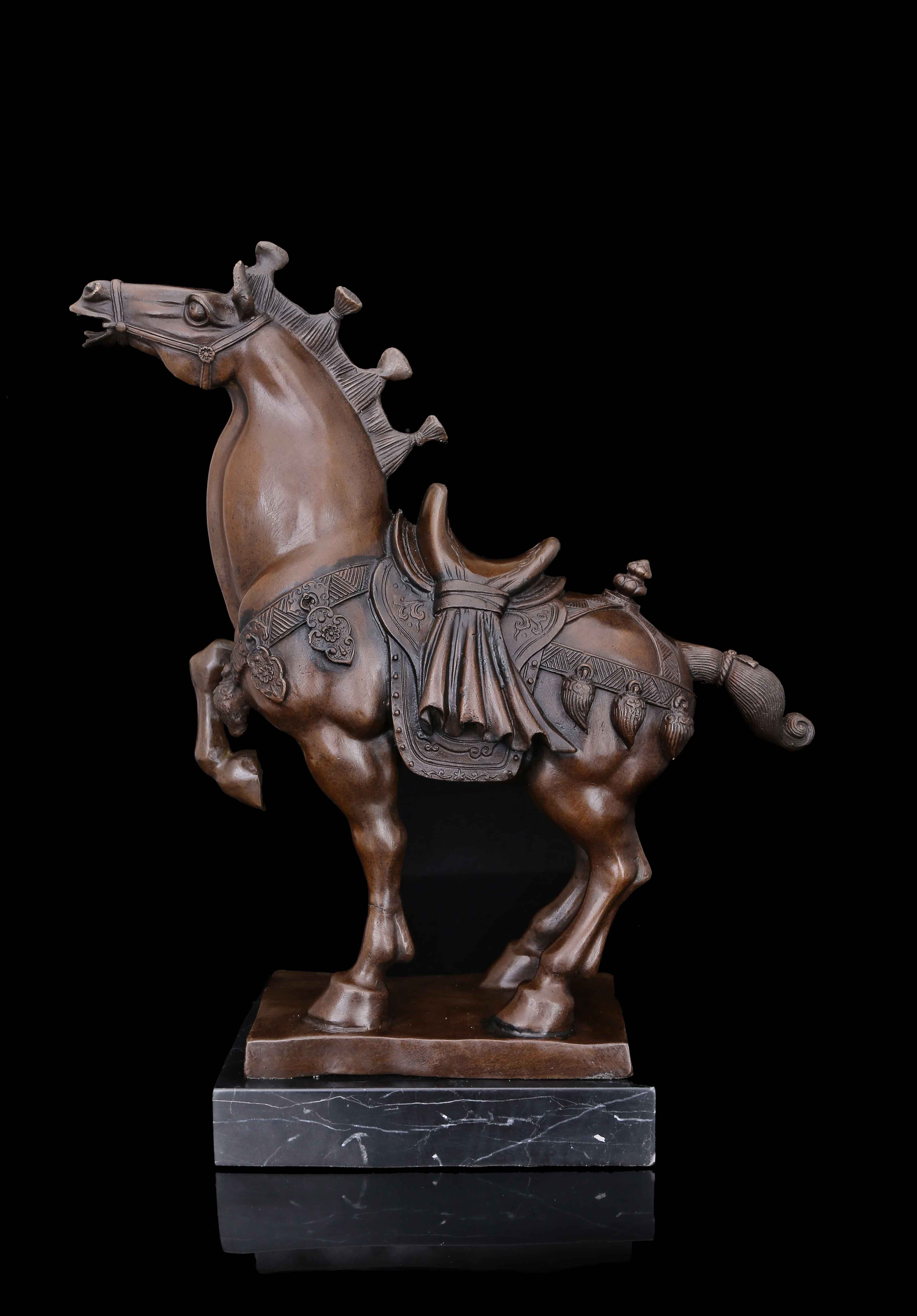 Wo have copper art rich Tang Ma ornaments gift horse bronze ornaments entrance animal sculpture
