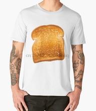 844d36e05 Printed Men T Shirt Cotton tshirts O-Neck Short-Sleeve Toast T-Shirt  Halloween Costume Shirt Bread Lover Shirts(2) Women T-Shirt