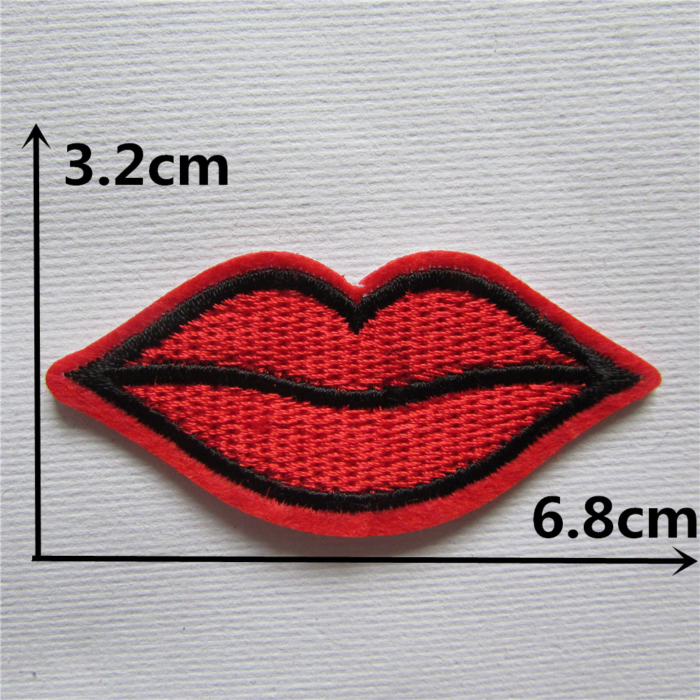 1pcs kissing patch clothing accessories red lip for Applique decoration
