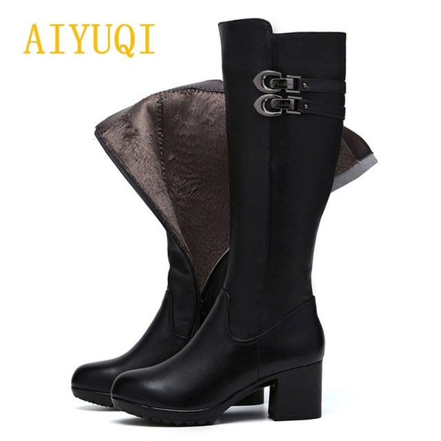 AIYUQI-2018-Nuovo-Inverno-Del-Cuoio-Genuino-stivali-da-donna -Alta-Gamba-Zip-Up-Biker-Stivali.jpg 640x640.jpg 1e5ceb4a047