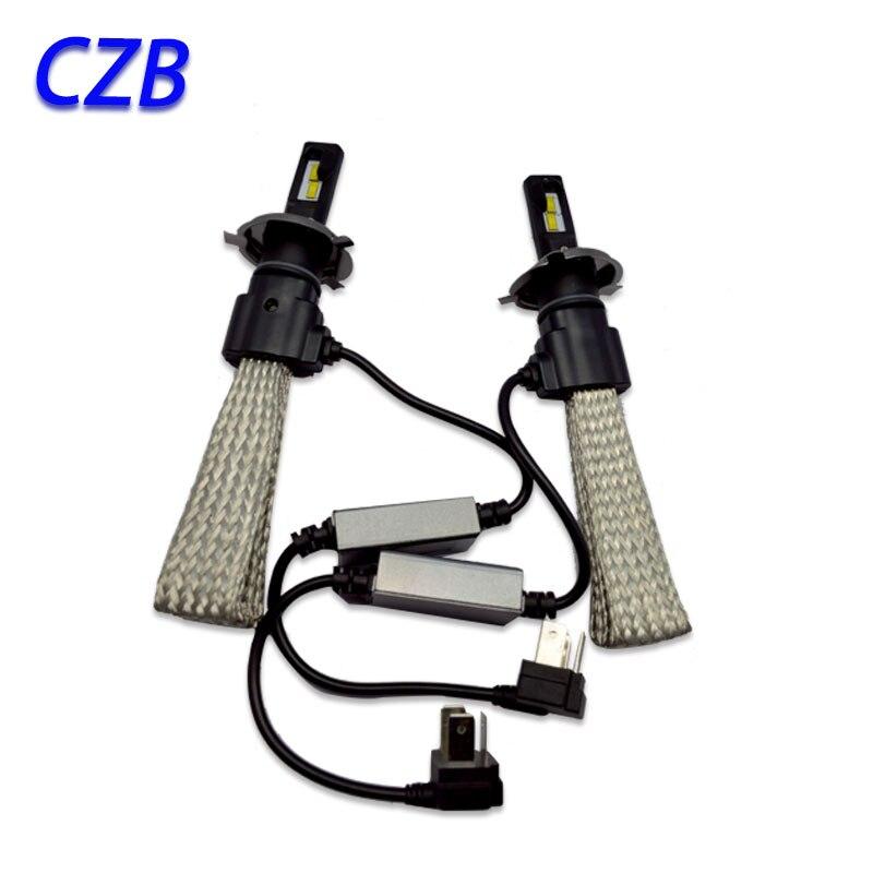 2 Шт. 20 Вт H1 H3 H4 H7 H8 H9 H11 H16 9005 9006 Привет/Lo 3200LM светодиодные Для Philips Автомобильный Комплект СВЕТОДИОДНЫХ Фар Лампы Xenon HID Белый Лампы 6500 К