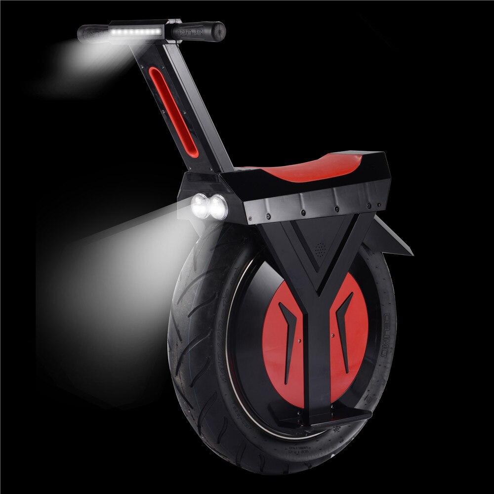 60 Volts 7.8AH batterie Une Roue Grand Pneu monocycle Électrique Équilibre Moto par-dessus bord scooter