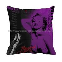 Beautiful Girl Sing Song Printed Customize Cushion Cover Euro Style Pillow Case Sofa Decorative Chair Square