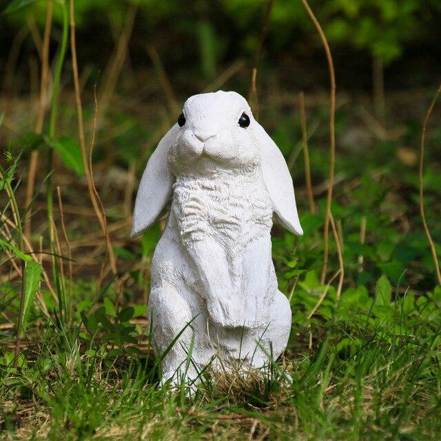 Hof Harz Kaninchen Skulptur Garten Dekoration Handwerk Tier Statuen