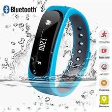 2016 Водонепроницаемый Мода Smart Bluetooth трекер Браслет E02 Band вызова/sms напомнить спортивные часы connecte для Iphone, Android P10