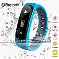 2016 moda a prueba de agua bluetooth inteligente pulsera rastreador e02 banda llamada/sms recuerdan reloj deportivo connecte para iphone android p10