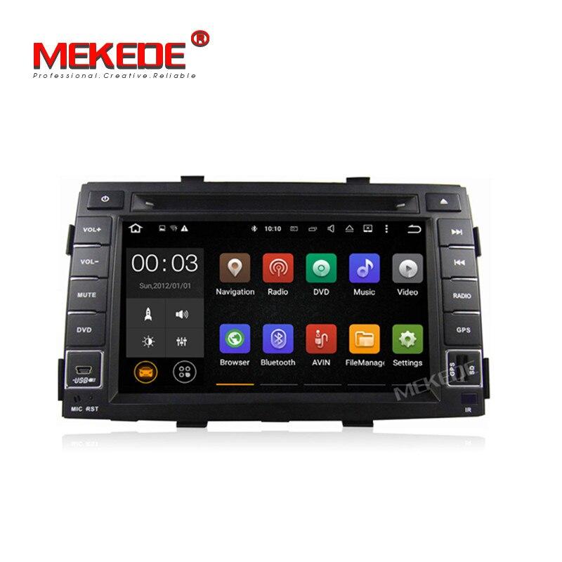 MEKEDE Quad core 2 GB RAM Android7.1 Voiture GPS lecteur DVD pour kia Sorento 2009 2010 2011 2012 inlcuding 4G LTE wifi BT Radio Audio
