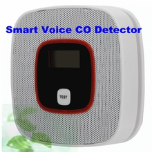 High Sensitive Voice Warning Smart Voice CO Detector LCD CO Carbon Monoxide Tester Poisoning Sensor Alarm Detector Home Security