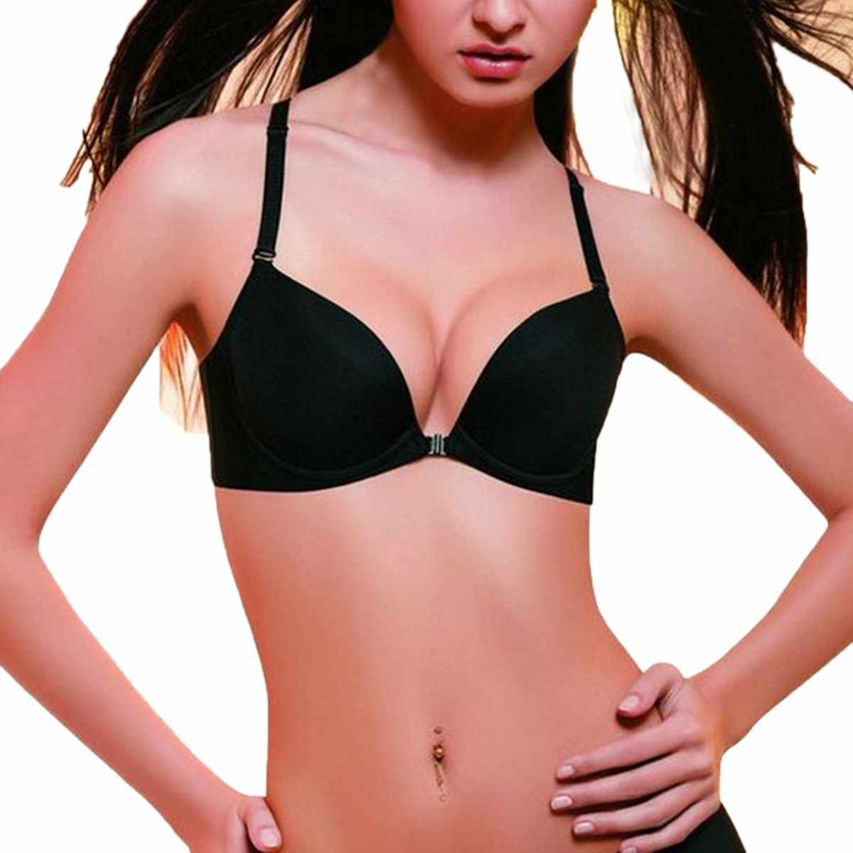 804a99dd08a25 Top Sale 2018 Sexy Womens Korean Push Up Bra Front Closure Brassiere Ladies  Seamless Adjustable Bras