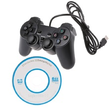 Dual Vibration Joystick Gamepad Wired USB Game Controller For PC Computer Laptop
