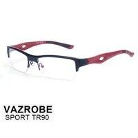Vazrobe White TR90 Glasses Frame for men optical Clear Eyeglasses Frames Semi Rimless Spectacles for Prescription ultra-light