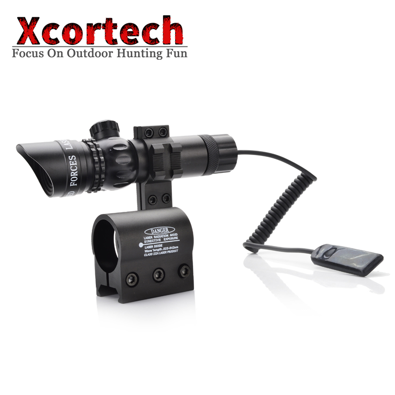 Hunting Red Laser Sight Scope Tactical Green Laser with Picatinny Rail Mount Barrel Mount for Rifles and Shotguns