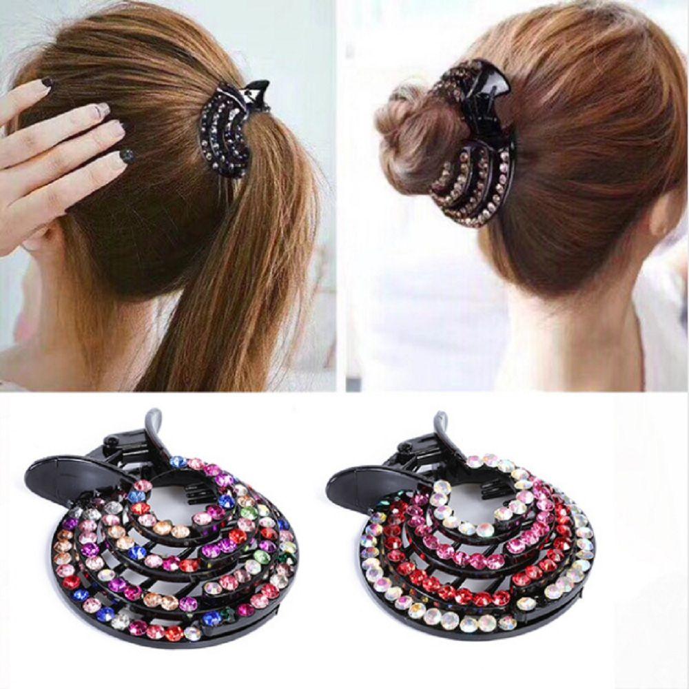 Nouveau 1Pc Épingles à Cheveux Bijoux Banane Coiffure Fille Queue De Cheval Fashion Cheveux Accessoires