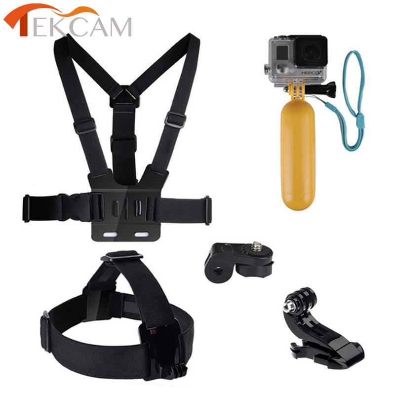 Prix pour Pour xiaomi yi accessoires ensemble tête sangle poitrine ceinture flottant main grip pour gopro sjcam xiaomi yi 2 4 k wifi camera action sony