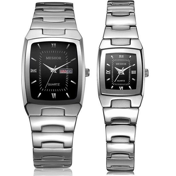 (MESHOR) fashion leisure steel quartz watches lovers watch MS.6001M.16.216 MS.6001L.16.216