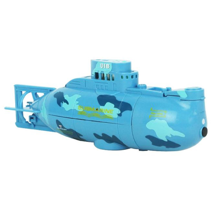 Chamsgend RC Water Boat 6CH Speedboat Model High Powered 3.7V Toy Boat Plastic Model Large RC Submarine Outdoor Toys