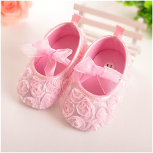 Baby Girl First Walkers Shoes Floral Soft Sole Crib Shoes For 0 18month