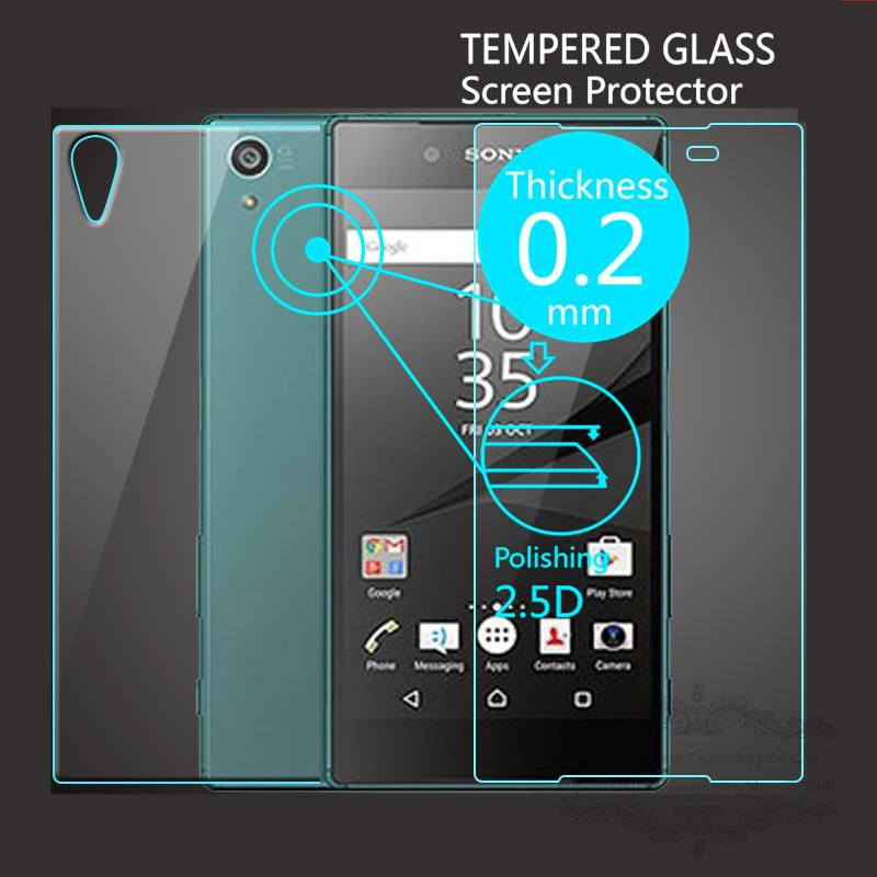 2 PCS/Lot = Front+Back Explosion-Proof Tempered Glass Screens
