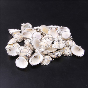23.1mm*18.2mm 3pcs Sliver Plated Sea Shell For Jewelry DIY Handmade Home Decor Natural Shell Craft PendantAccessories Ornaments