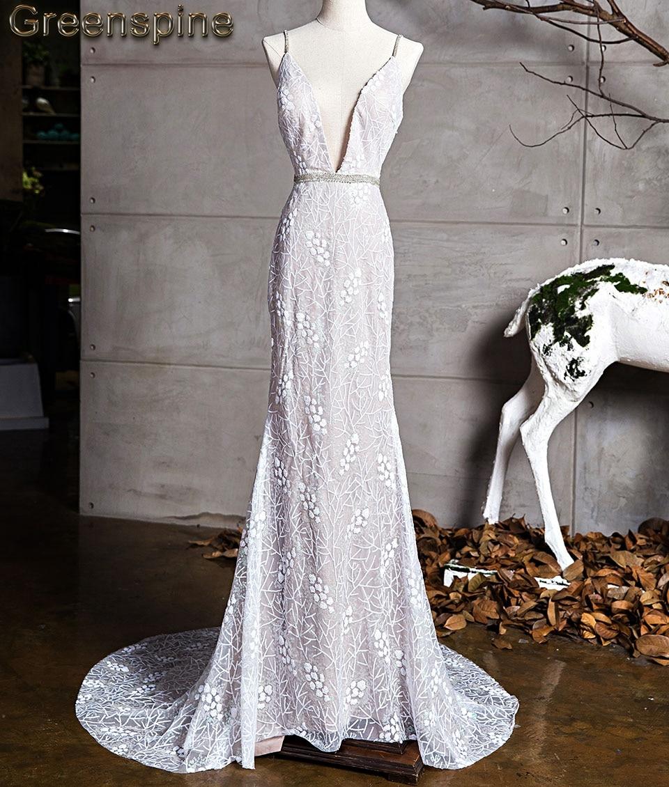 Romantic Wedding Dresses 2019: Greenspine Mermaid Lace Wedding Dress 2019 New Mariage