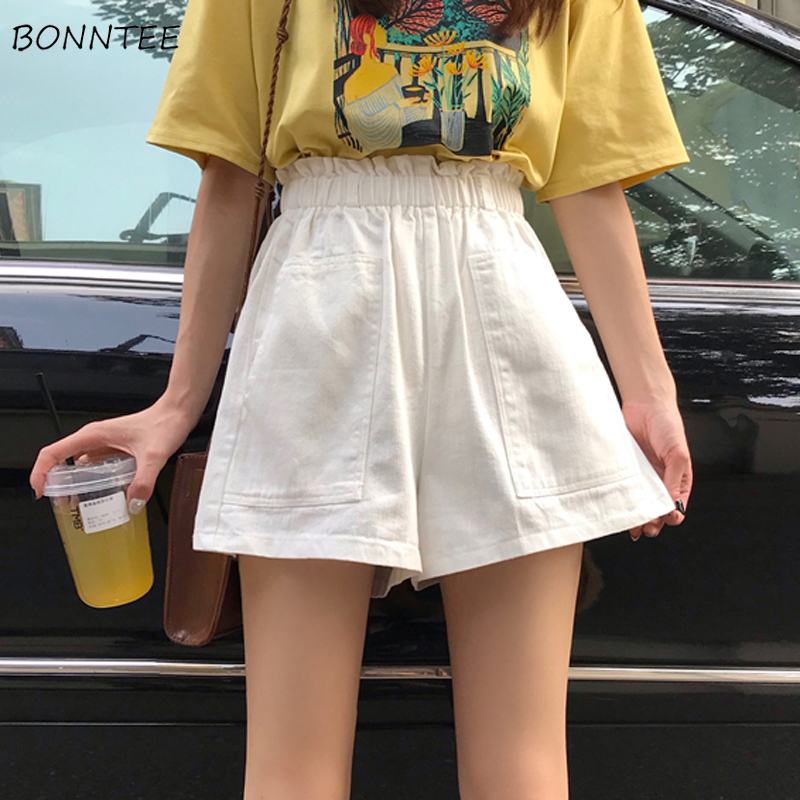 Shorts Women Solid Korean Style Loose Zipper All-match Summer Breathable Trendy High Quality Female Leisure Clothing Womens Chic