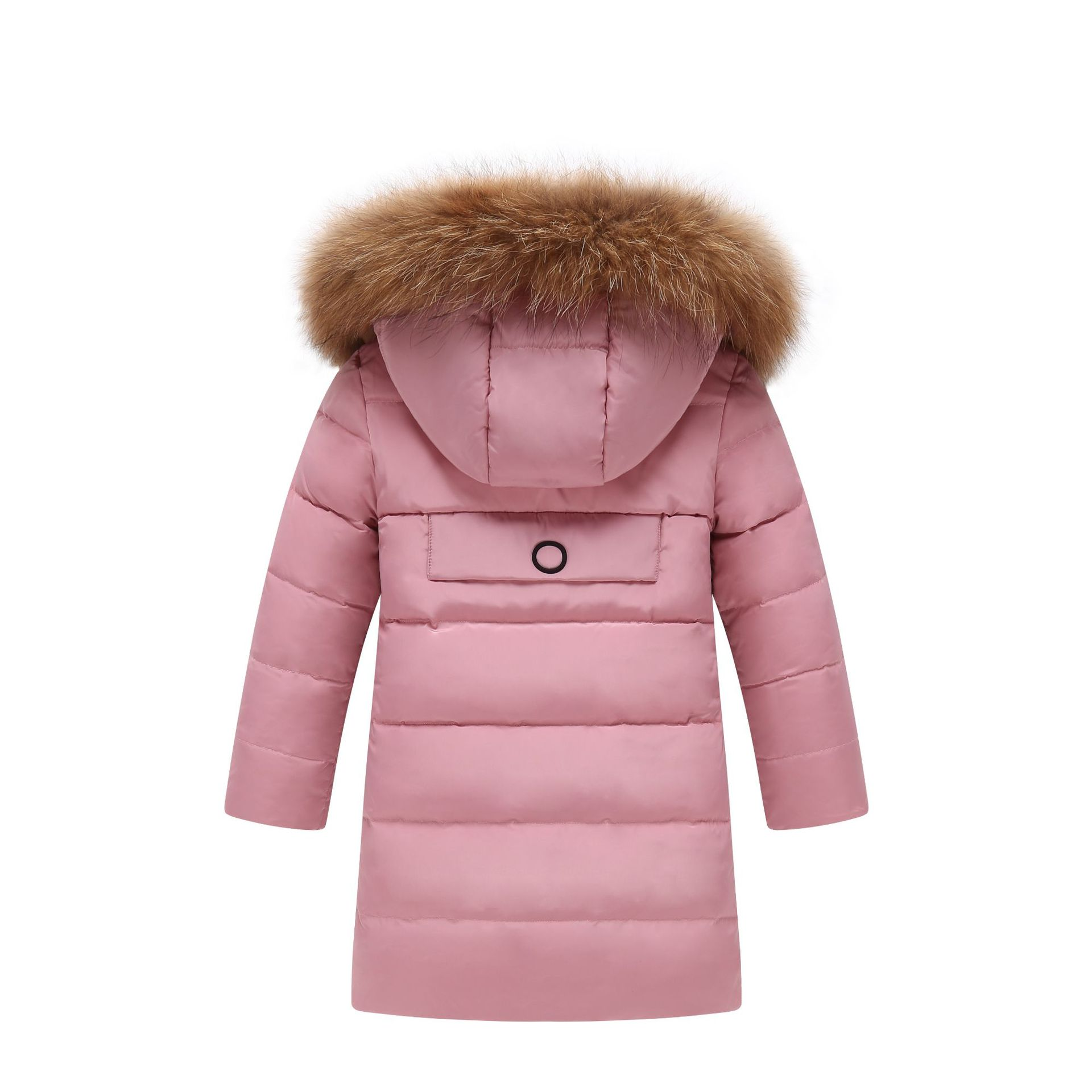Image 5 - Children Winter Jacket Fur Collar Kids Duck Down Parkas Coat For Teens Girl 6 8 10 12 14 Years Outerwar Coat Dwq352-in Down & Parkas from Mother & Kids