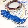 12 Color SC UPC 0 9mm PVC SM 9 125 1 2m Optical Fiber Pigtail