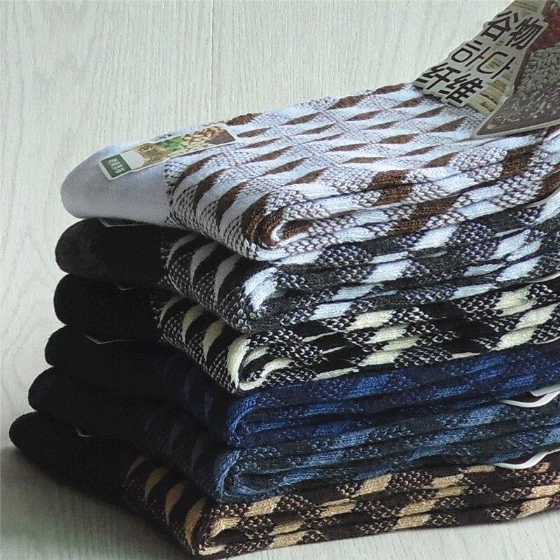 5 Pair/lot Brand New Mens Casual Dress Sock High Quality Bamboo cotton Autumn Winter Striped Socks Men 40-45 Size WZ-15