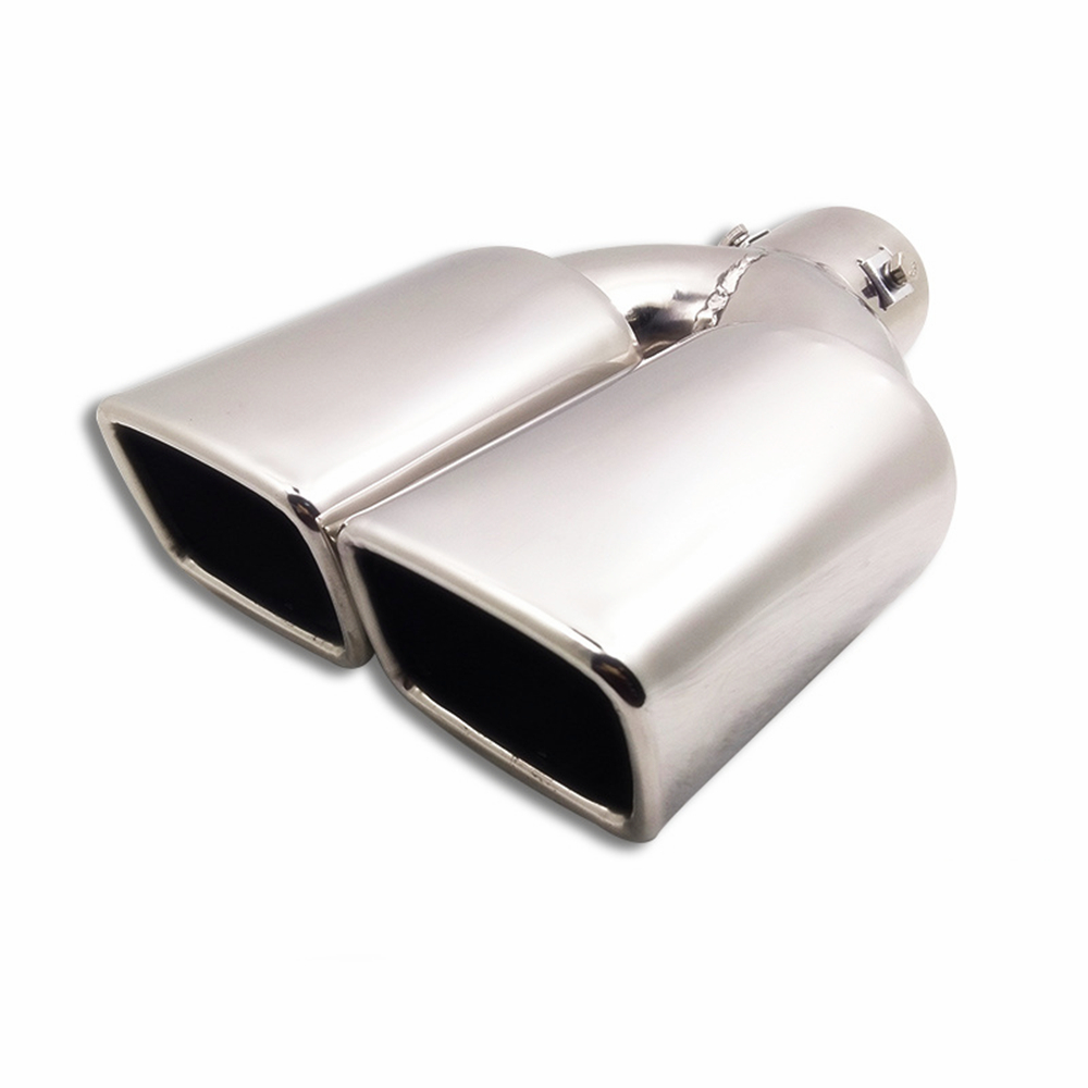 Universal 63mm Stainless Steel Car Exhaust Pipe Inlet Tips Muffler Tail Throat