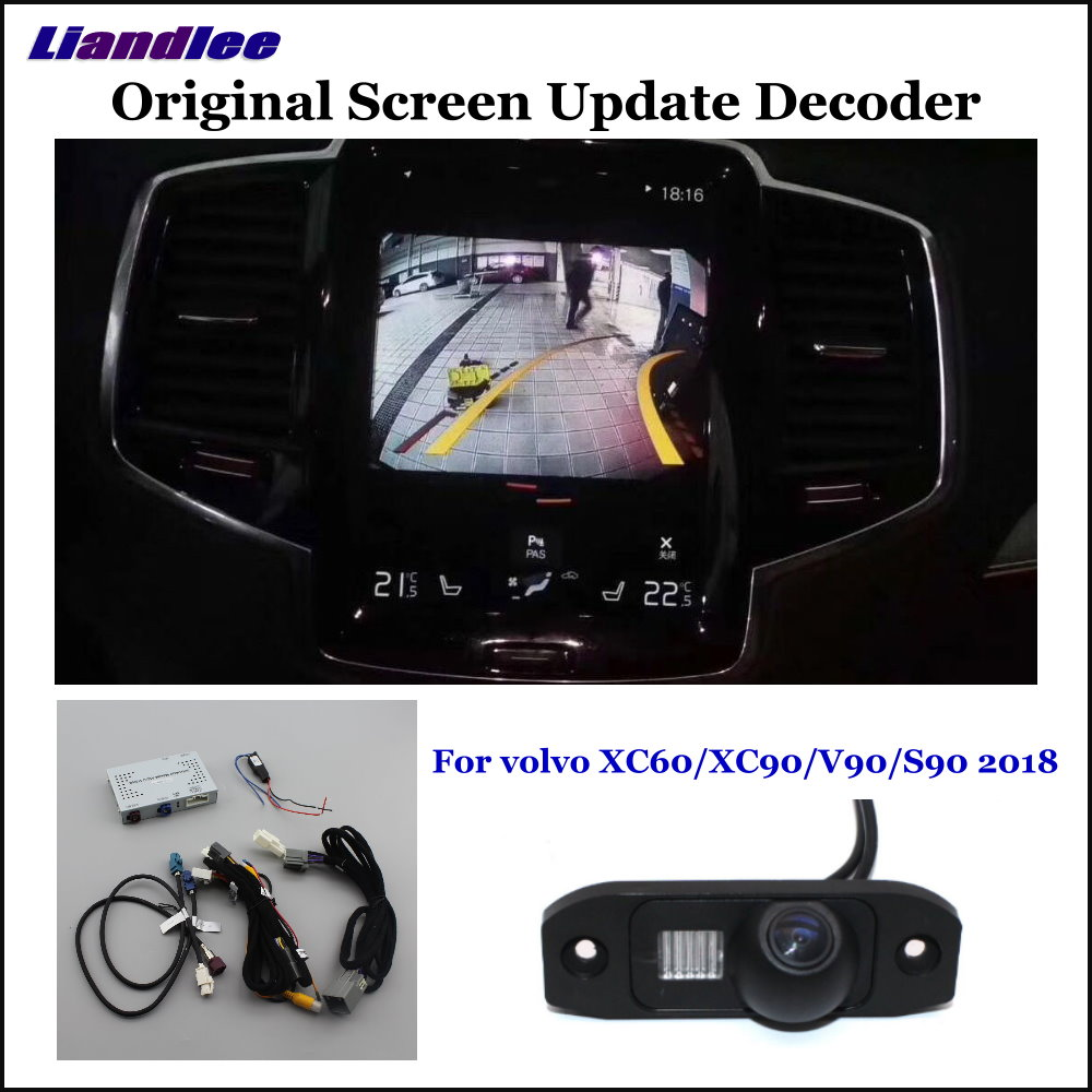Liandlee Car Original Screen Update System For volvo XC60 XC90 V90 S90 Rear Reverse Parking Camera