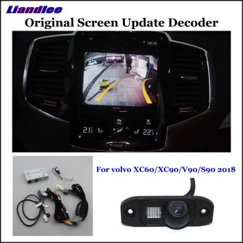 HD Reverse Reversing Parking Camera For volvo XC60/XC90/V90/S90 Rear View Rearview Backup Camera Decoder Accesories Alarm System car rear view rearview backup camera for audi a1 8x 2010 2018 reverse reversing parking camera full hd ccd decoder accesories